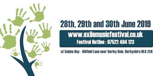 Exile Music Festival. Non profit boutique festival. Eclectic music mix.