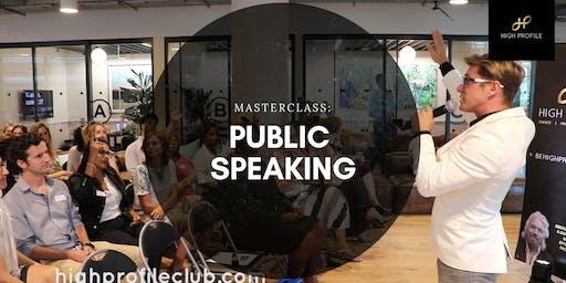 Masterclass: Public Speaking
