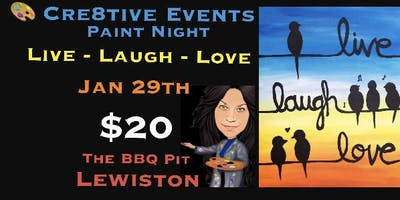 $20 Paint Party Night @ BBQ Pit Lewiston