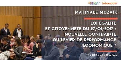 Matinale Mozaïk - Loi Egalité et Citoyenneté du 27/01/2017