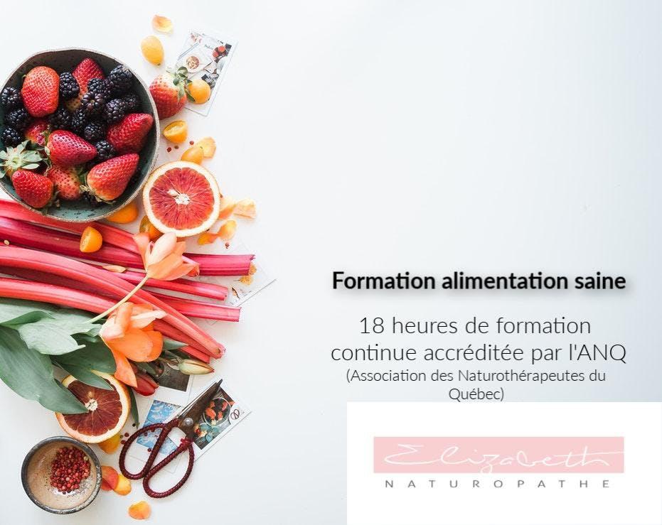 Formation Alimentation saine Cégep Garneau