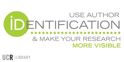 Use Author Identification and Make Your Research More Visible