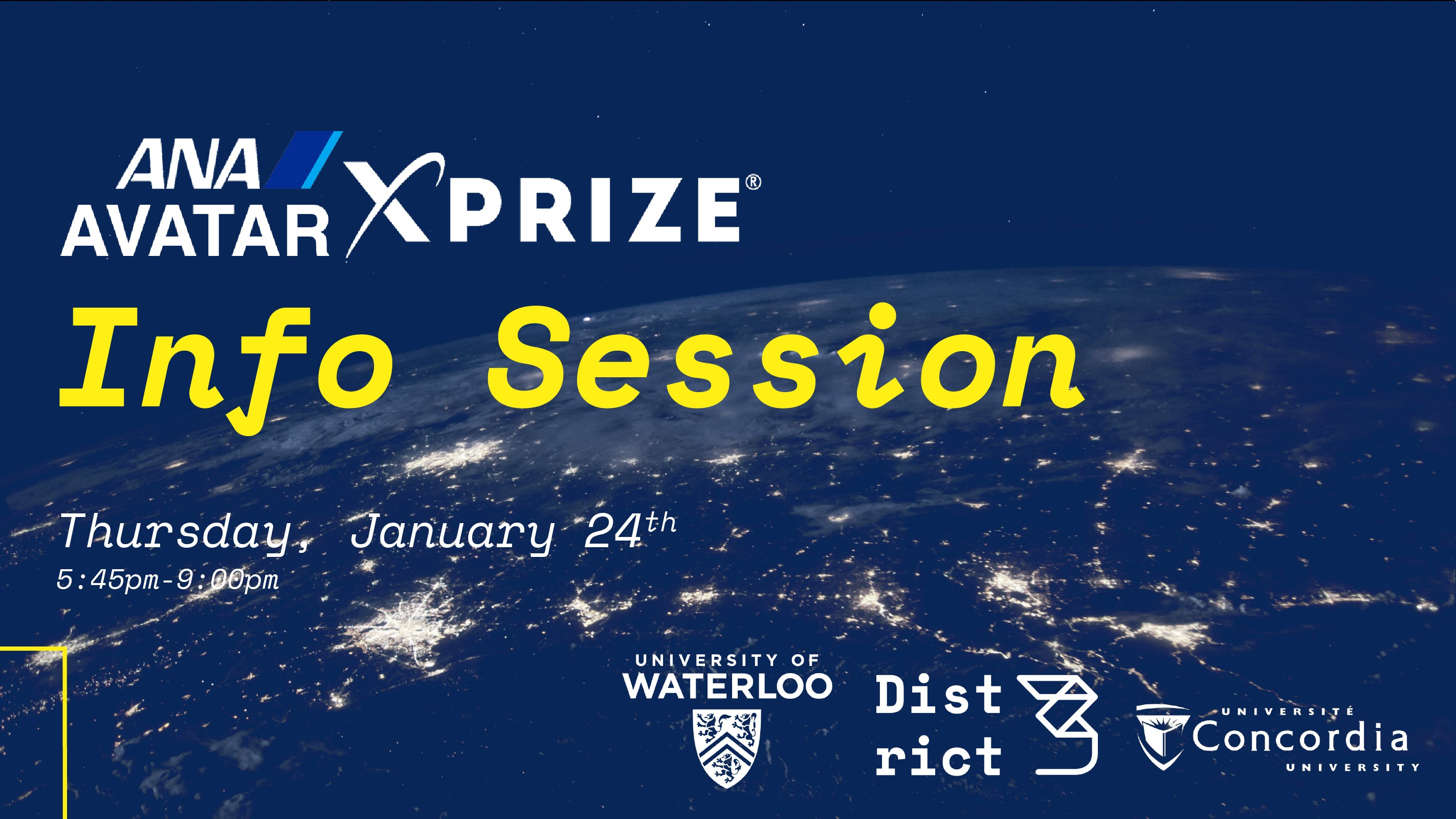 ANA Avatar XPRIZE Info Session - Waterloo