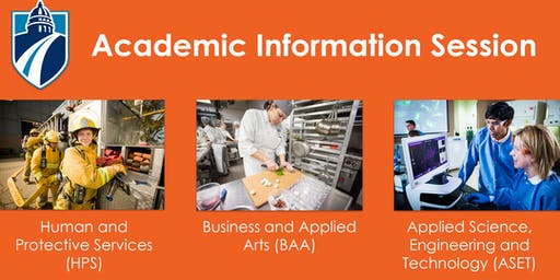 Business, Human & Protective Services (HPS) AND Applied Science, Engineering & Technology (ASET) Academic Information Session (Spring & Summer 2019)
