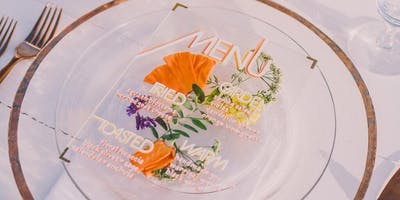 Pressed Floral Wall Art - Lettering Workshop by Fête & Quill
