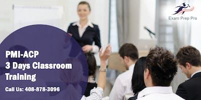 PMI-ACP 3 Days Classroom Training in Lakewood Township, NJ
