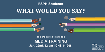 Effectively Engaging the Media: A Training for FSPH students
