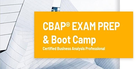 CBAP Certification Training Course | CBAP Exam Prep & Boot Camp tickets