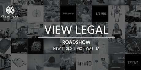 View Legal Roadshow 2019 Sydney  tickets