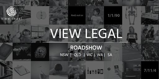 View Legal Roadshow 2019 Canberra
