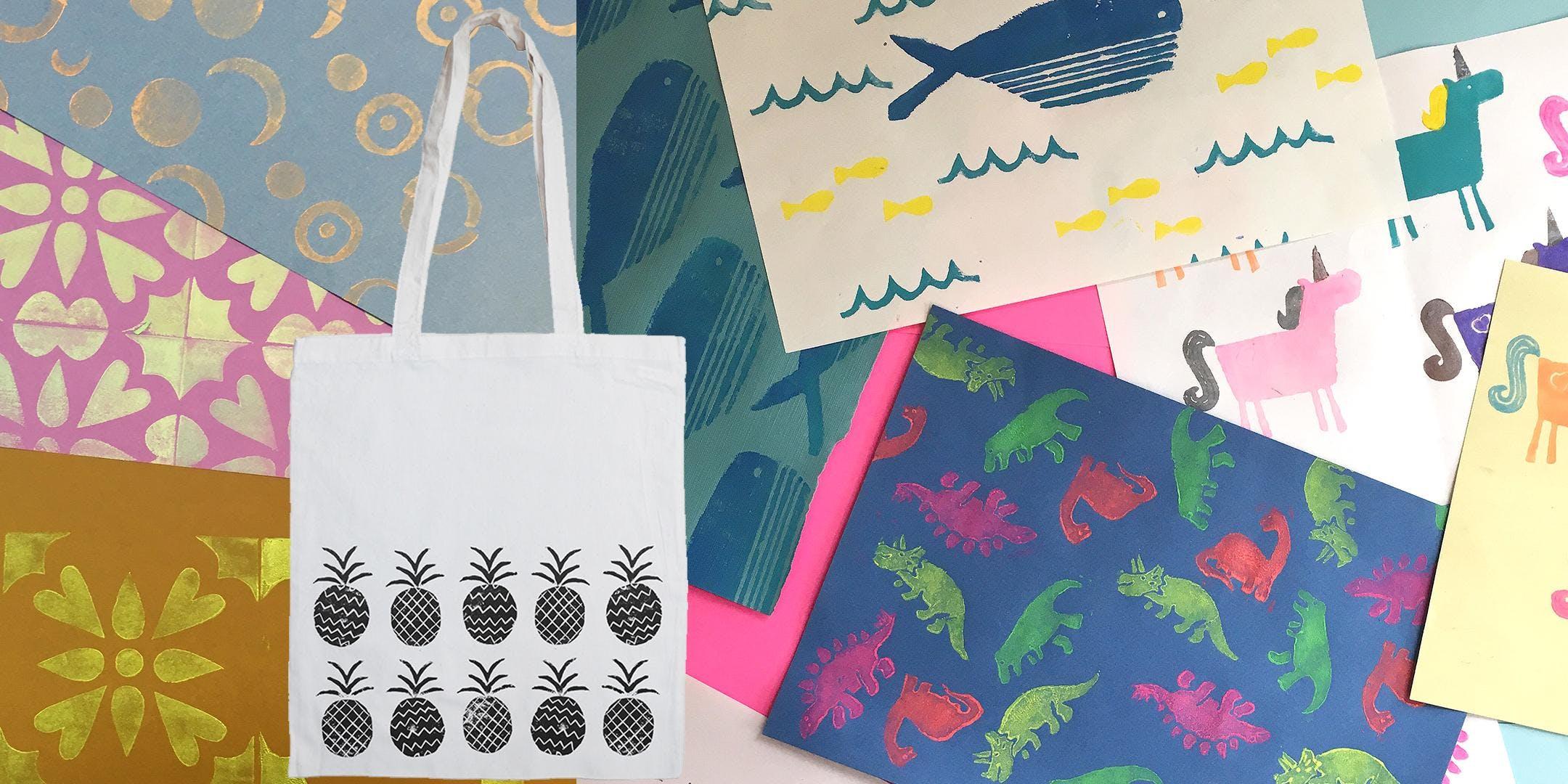 Print a Tote Bag - Block Printing