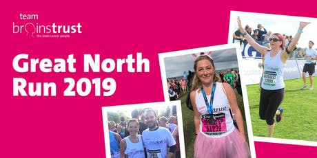 Great North Run 2019 - brainstrust (charity place) tickets