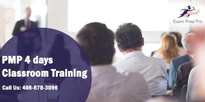 PMP 4 days Classroom Training in Pasadena, CA