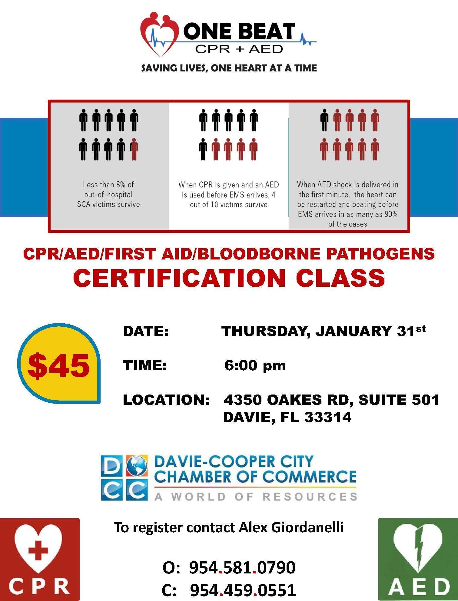 Cpraedfirst Aidbloodborne Pathogens Certification Class 31 Jan 2019