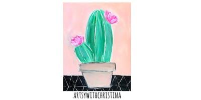 Cactus Paint Night @ Village Lanes