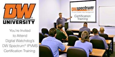 DW Spectrum® IPVMS Certification Course - Columbia