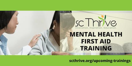 SC Thrive Adult Mental Health First Aid Charleston 2019 tickets