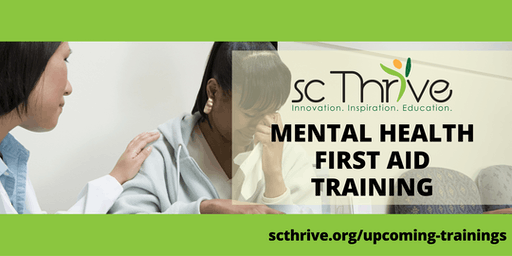 SC Thrive Adult Mental Health First Aid Charleston 2019