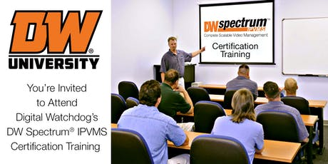 DW Spectrum IPVMS Certification Course - Pompano Beach tickets