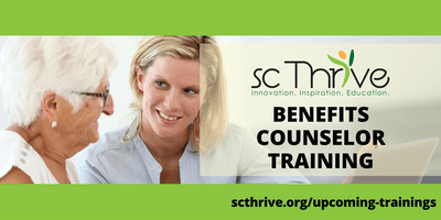 SC Thrive Benefits Counselor Training Charleston 2019