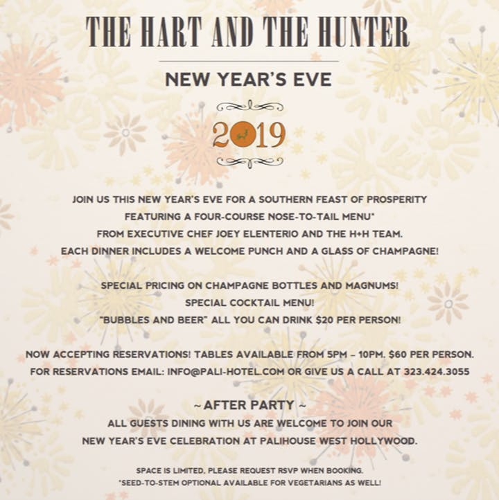 For A 4 Course Nose To Tail Menu From Executive Chef Joey Elenterio And The H Team Each Dinner Includes Welcome Punch Gl Of Champagne