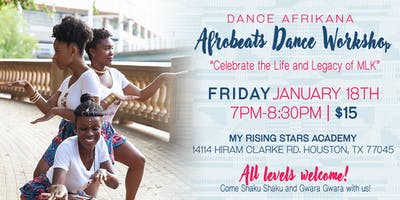 MLK Weekend Afrobeats Dance Workshop