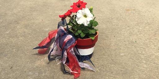 Kids Workshop: Patriotic Pots 6/30 @10:45am