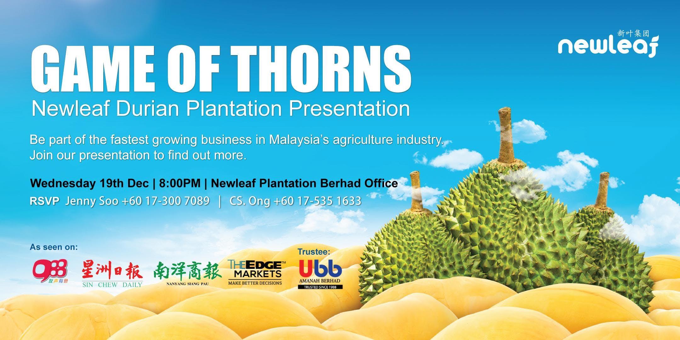 Newleaf Durian Plantation Presentation (ENG)