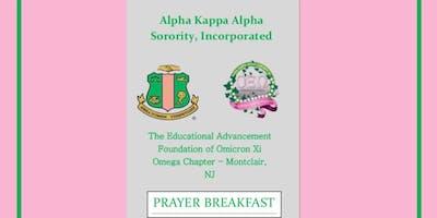 Omicron Xi Omega Chapter's EAF Prayer Breakfast