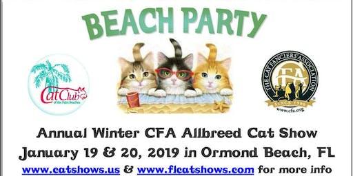 Cat Show Ormond Beach Nova Center January 19 20 2019 9 A M