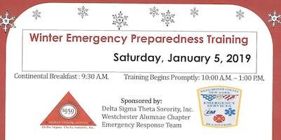 Winter Emergency Preparedness Training - Emergency Response Team of Delta Sigma Theta Sorority, Inc.