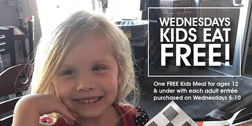 Kids EAT FREE on Wednesday!