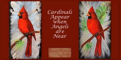 Paint a Cardinal on Slate
