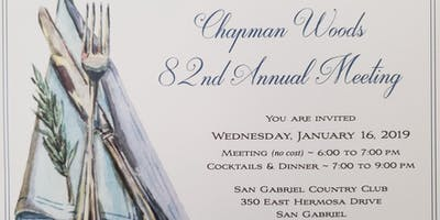 Chapman Woods 82nd Annual Meeting