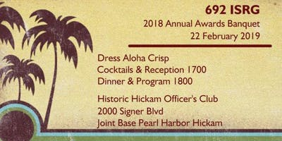 692nd Annual Awards Banquet