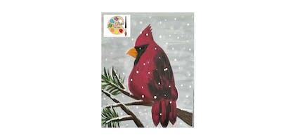 """Let's Paint"" a Cardinal @ Mobjack Tavern"