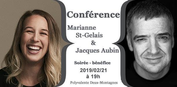 Marianne St-Gelais et Jacques Aubin