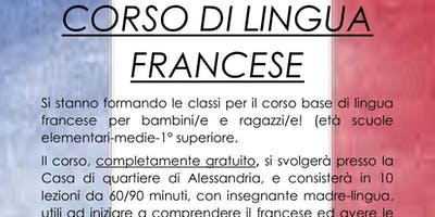 Corso di FRANCESE per bambini/e e ragazzi/e, corso gratuito, livello base.