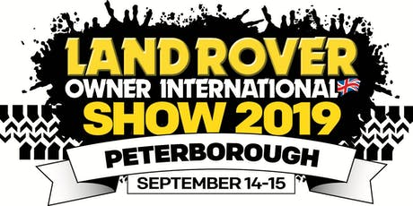 Land Rover Owner International Show 2019 tickets