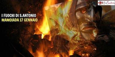 I FALO' DI SANT'ANTONIO A MAMOIADA GIO 17 GEN