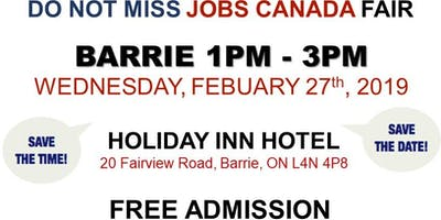 FREE: Barrie Job Fair – February 27th, 2019