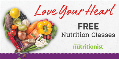 Love Your Heart Nutrition Classes at Giant Food-Virginia