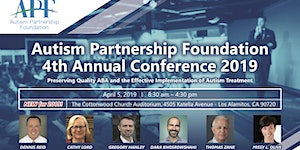 Autism Partnership Foundation 4th Annual Conference...