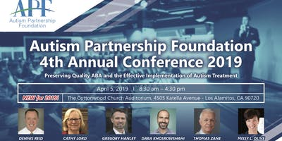Autism Partnership Foundation 4th Annual Conference 2019