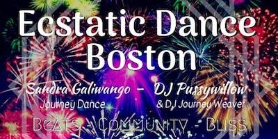 Ecstatic Dance Boston // January // Journey Dance Lab // DJ Journey Weaver & DJ Pussywillow