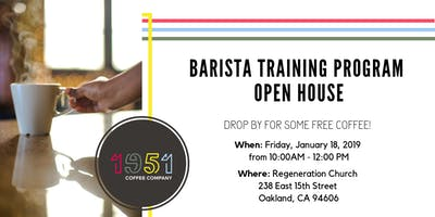 Oakland Barista Training Open House for Employers - January 2019