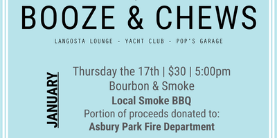 Booze and Chews Dinner Event