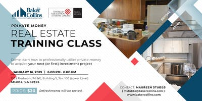 Private Money Real Estate Training Class 1