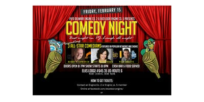 PJFD Delaware Eng Co 2 & Excelsior Eng Co 5 Stand Up Comedy Night