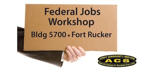 Federal Job Workshop 2019 tickets